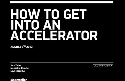 How to Get Into an Accelerator